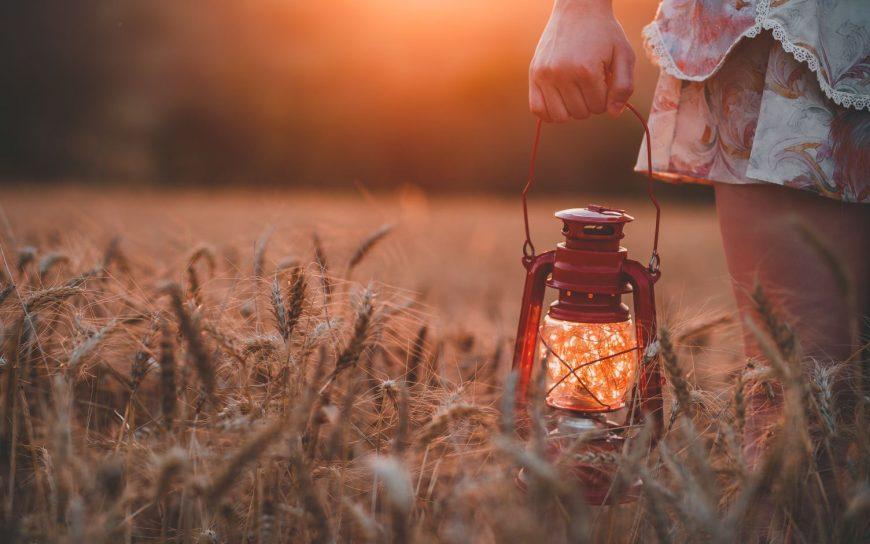 Modern Mystery School Lantern in field