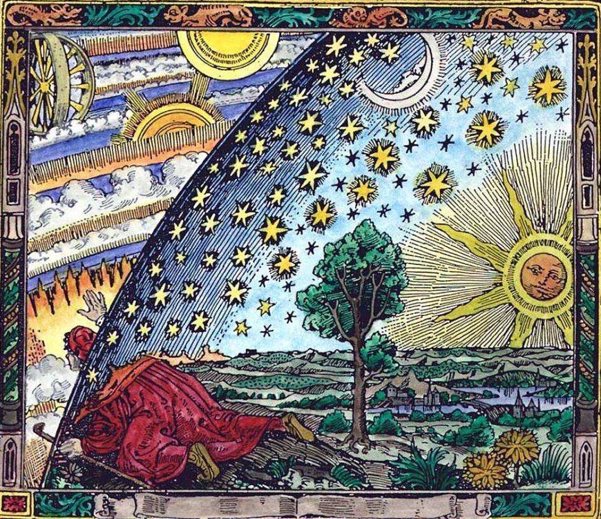 Modern Mystery School Alchemy Flammarion engraving